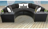 Tegan 4 Piece Rattan Sectional Seating Group with Cushions Sol 72 Outdoor Cushion Color: Black