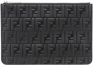 Fendi monogram zipped pouch