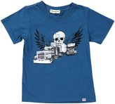 Appaman Skull Truck Tee (Toddler/Kid) - Pacific Blue-5