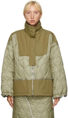 Sjyp Khaki Quilted Jacket