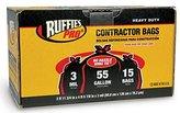 Tuffsak 15 Count 55 Gallon Contractor Drum Liners 618940