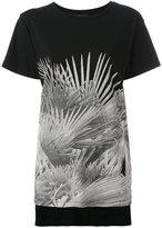 Diesel leaf print T-shirt - women - Cotton - M
