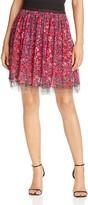 T Tahari Winnie Floral Print Skirt