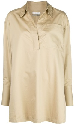 Co Long-Sleeved Open-Collar Shirt