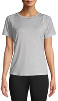 Athletic Works Women's Active Striped Short Sleeve Crewneck T-Shirt