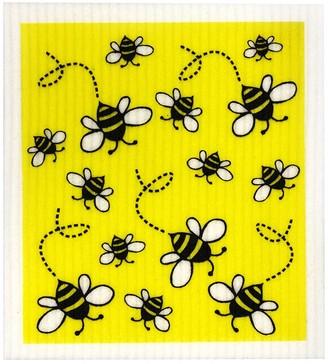 RetroKitchen Compostable Kitchen Sponge Cloth Bees Design