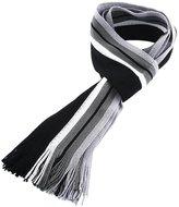 Cackss Scarf Men Warm Winter Classic Shawl Crochet Tassels Stripe Wrap Muffler