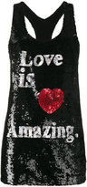 Ashish Love is Amazing Sequin Embellished Tank Top