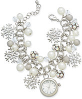 Charter Club Silver-Tone Charm Bracelet Watch 22mm, Only at Macy's