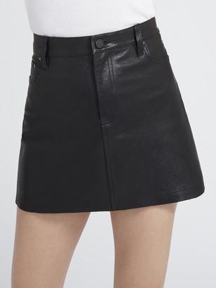 Alice + Olivia Amazing Leather Mini Skirt