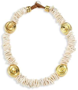 Lizzie Fortunato Aphrodite Goldplated & Freshwater Pearl Collar Necklace
