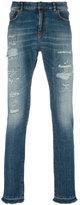 Faith Connexion distressed slim-fit jeans - men - Cotton/Spandex/Elastane - 30