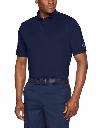 Callaway Men's Big & Tall Micro Hex Solid Short Sleeve Golf Polo Shirt