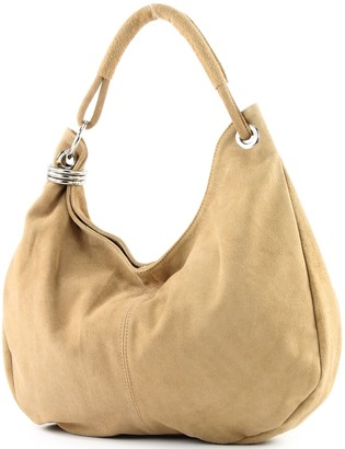 Modamoda De Italian handbag shoulder bag shopper Women's bag real suede leather bag T02