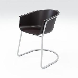 Estancia Arm Chair Brayden Studio Color: Moonbeam/Silver