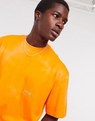 Puma heavy classics t-shirt in orange