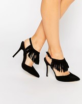 Blink Tassel Sling Heeled Shoes