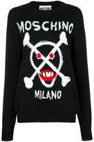 Moschino skull logo jumper