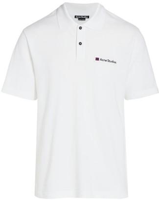 Acne Studios Logo Face Cotton Polo Shirt