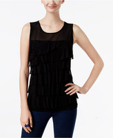 INC International Concepts Tiered Illusion Top, Only at Macy's