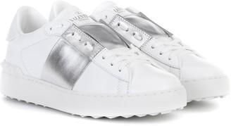 Valentino Garavani Open metallic leather sneakers