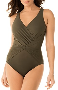 Miraclesuit Rock Solid Twister One Piece Swimsuit