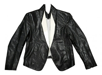 Theyskens' Theory Black Leather Leather jackets