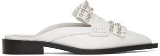 Alexander McQueen White Punk Fringe Slip-On Loafers