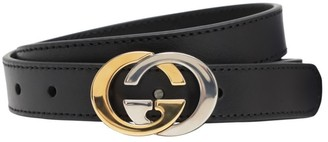 Gucci Interlocking G Leather Belt