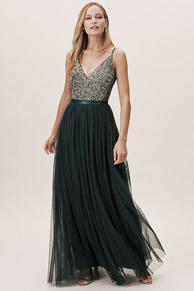BHLDN Avery Dress By in Green Size 26