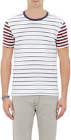 Barneys New York MEN'S STRIPED JERSEY T-SHIRT-BLUE SIZE S