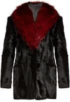 Diane von Furstenberg Gautam fur jacket