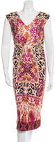 Fuzzi Mixed Print Midi Dress w/ Tags