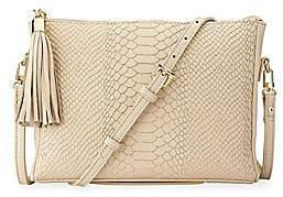 GiGi New York Women's Hailey Python-Embossed Leather Crossbody Bag