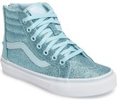 Vans SK8-Hi Zip Glitter Sneaker (Baby, Walker, Toddler, Little Kid & Big Kid)