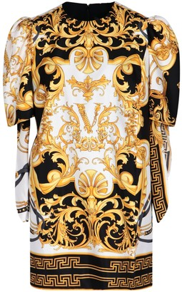Versace Virtus Print Mini Dress