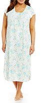 Miss Elaine Plus Floral Nightgown