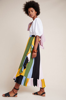 Mae DOLAN Collection Wrap Midi Skirt By Dolan Left Coast in Assorted Size XS