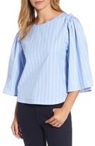 Halogen Women's Bell Sleeve Stripe Blouse