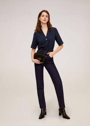 MANGO V-neckline blouse