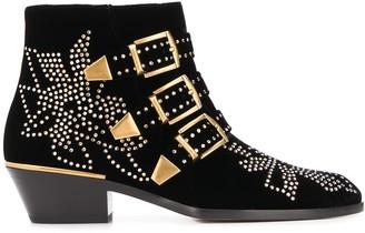 Chloé buckle studded ankle boots