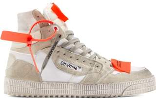 Off-White Off White Off Court High Top Suede Trainers - Mens - White