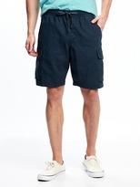 "Old Navy Linen-Blend Cargo Shorts for Men (9 1/2"")"