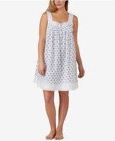 Eileen West Plus Size Eyelet-Trimmed Cotton Nightgown