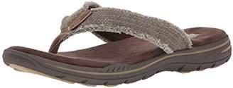 Skechers Men's 65091 Open Toe Sandals, Brown (Chocolate), 43 EU