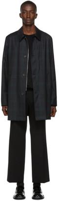Paul Smith Green and Black Check Mac Coat