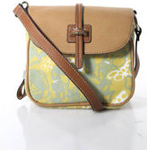 Tignanello Multi-Color Abstract Canvas Leather Trim Crossbody Handbag