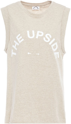 The Upside Printed Slub Cotton-jersey Tank