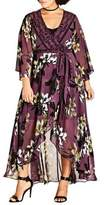 City Chic Plus Floral V-Neck Caftan