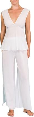 Everyday Ritual Deep V Wide Leg Pajamas